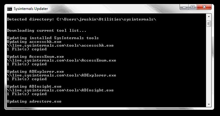 Sysinternals Updater